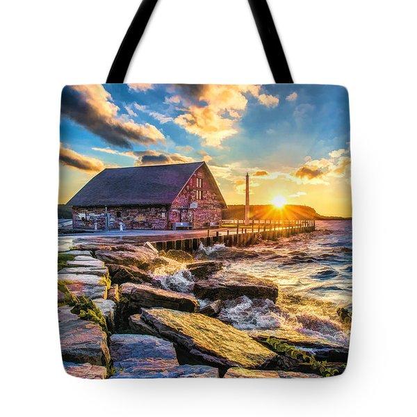 Historic Anderson Dock In Ephraim Door County Tote Bag