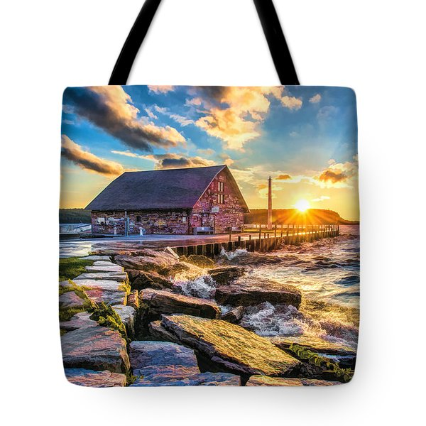 Historic Anderson Dock In Ephraim Door County Tote Bag by Christopher Arndt