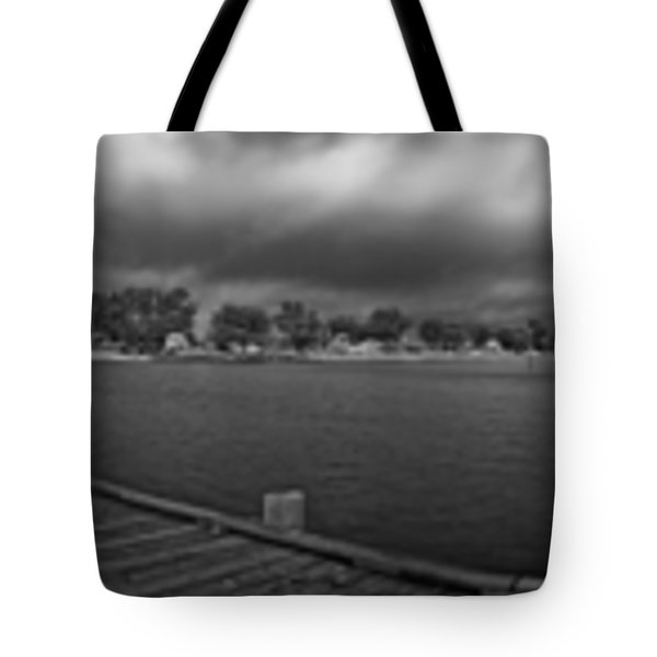 Historic Anna Maria City Pier In Infrared Tote Bag