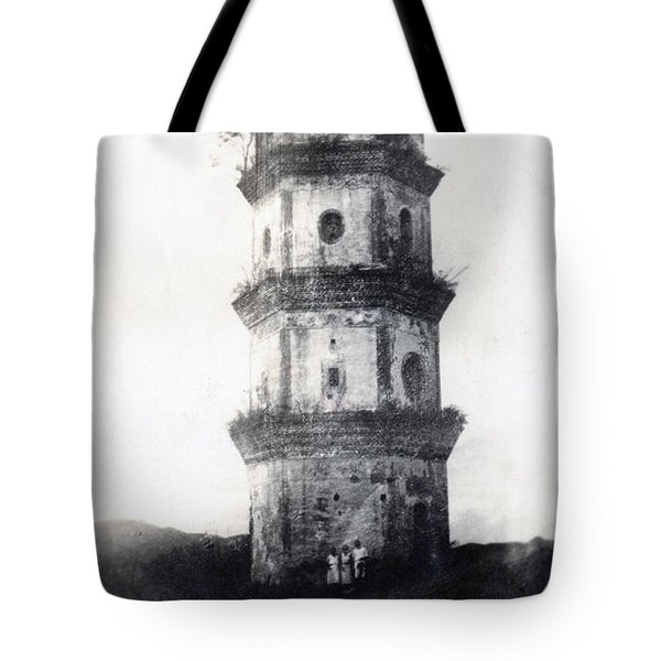 Historic Asian Tower Building Tote Bag by Jorgo Photography - Wall Art Gallery