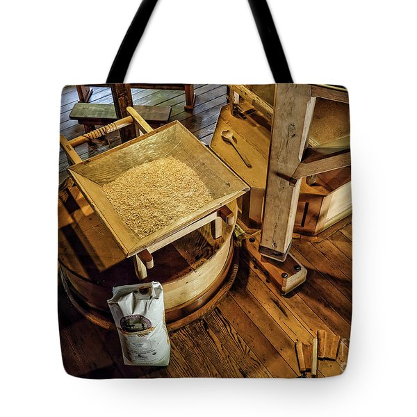 Tote Bag featuring the digital art Historic Bale Mill by Jason Abando