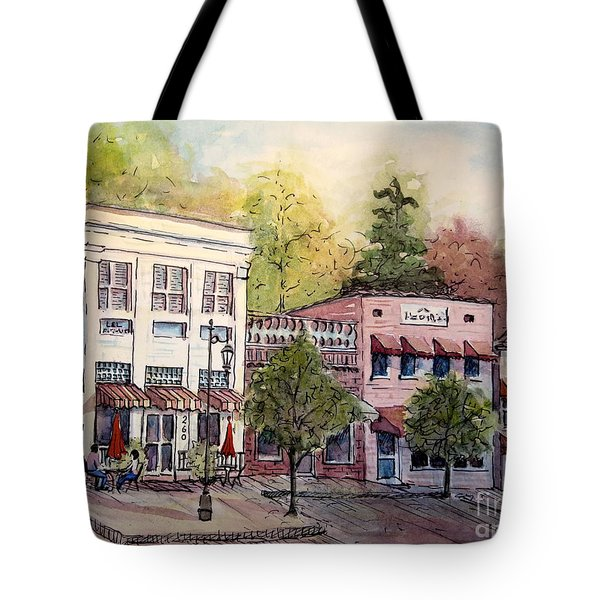 Historic Blue Ridge Shops Tote Bag by Gretchen Allen