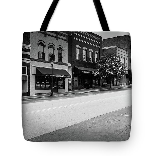 Tote Bag featuring the photograph Historic Buford Downtown Area by Doug Camara