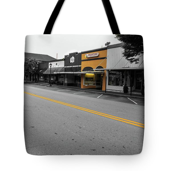 Tote Bag featuring the photograph Historic Buford In Selective Color by Doug Camara