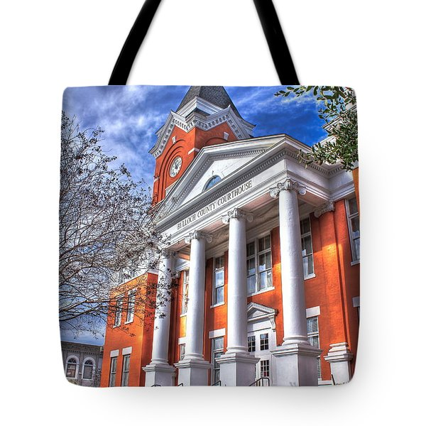 Historic Bulloch County Courthouse Tote Bag