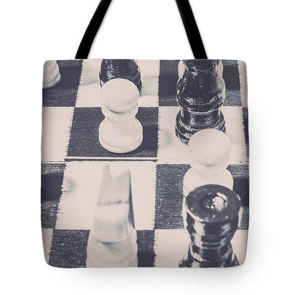 Historic Chess Nostalgia Tote Bag