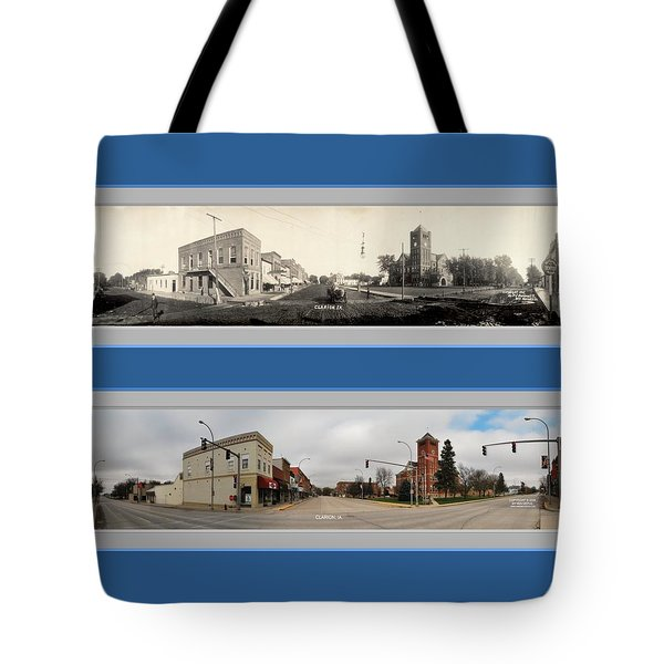 Historic Clarion Iowa Panoramic Reproduction Tote Bag