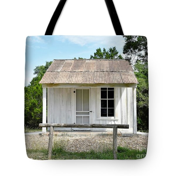 Tote Bag featuring the photograph Historic Clint's Cabin by Ray Shrewsberry