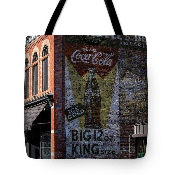 Historic Coca Cola Brick Ad - Fort Collins - Colorado Tote Bag by Gary Whitton