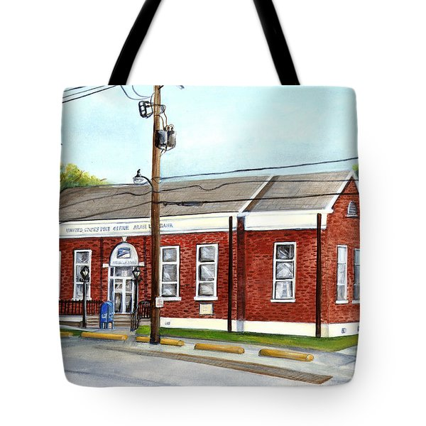 Historic District Post Office Tote Bag by Elaine Hodges
