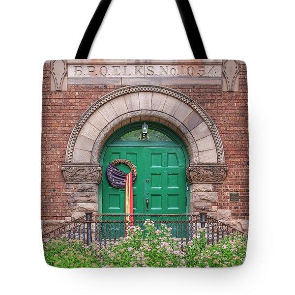 Historic Elks Club Building Geneva New York Tote Bag