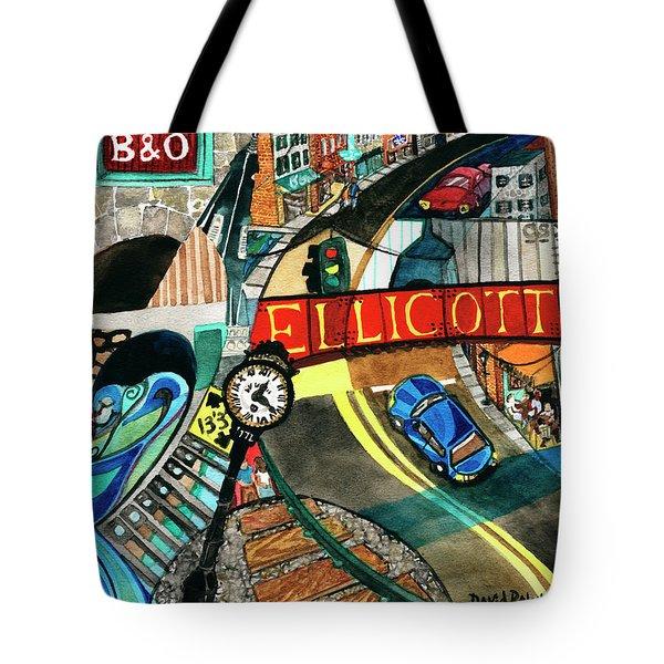 Historic Ellicott City Steam And Stone Tote Bag