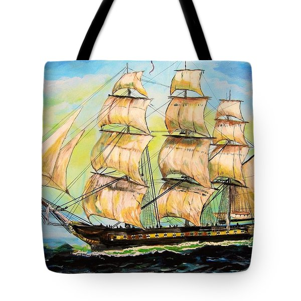 Historic Frigate United States Tote Bag