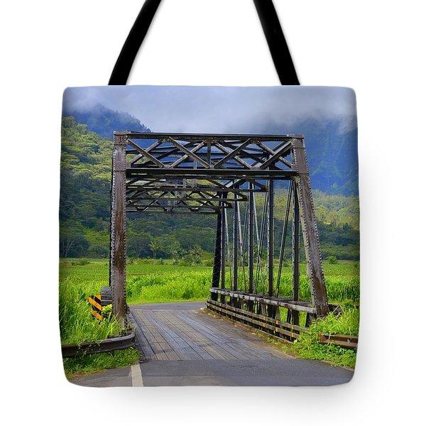 Historic Hanalei Bridge - Kauai Hawaii Tote Bag