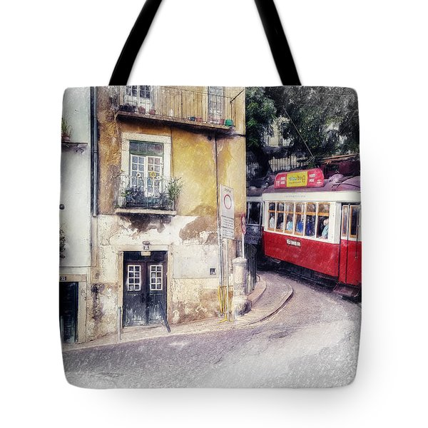 Historic Lisbon Tram Tote Bag