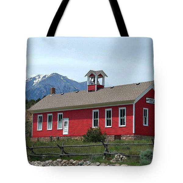 Historic Maysville School In Colorado Tote Bag by Catherine Sherman