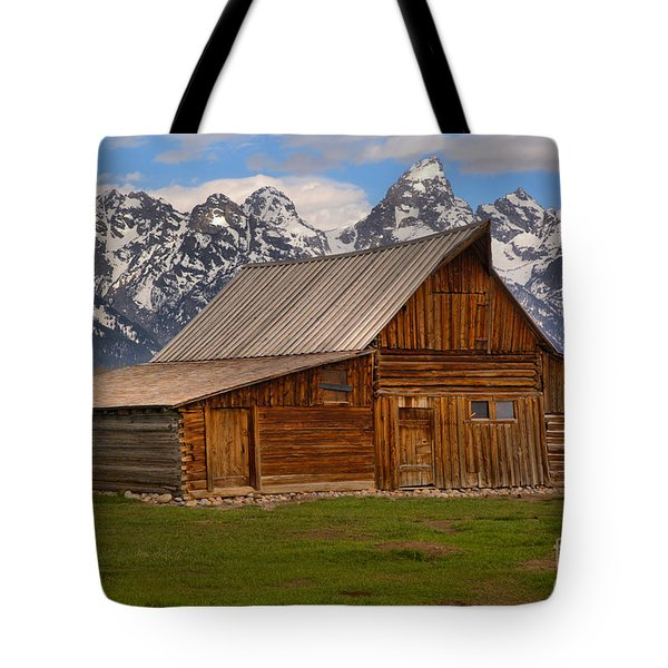 Historic Moulton Barn Tote Bag by Adam Jewell