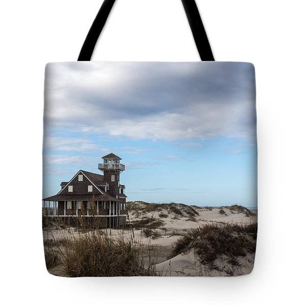 Historic Oregon Inlet Lifesaving Station Tote Bag by Gregg Southard