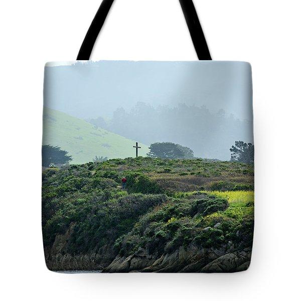 Historic Portola Cross In Carmel Tote Bag