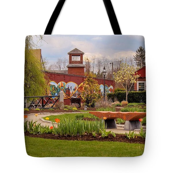Historic Rail Station, Manhan Rail Trail Easthampton Tote Bag