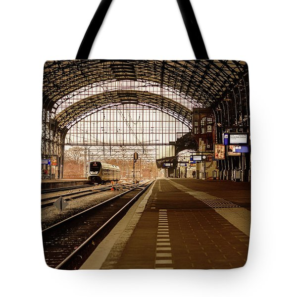 Historic Railway Station In Haarlem The Netherland Tote Bag