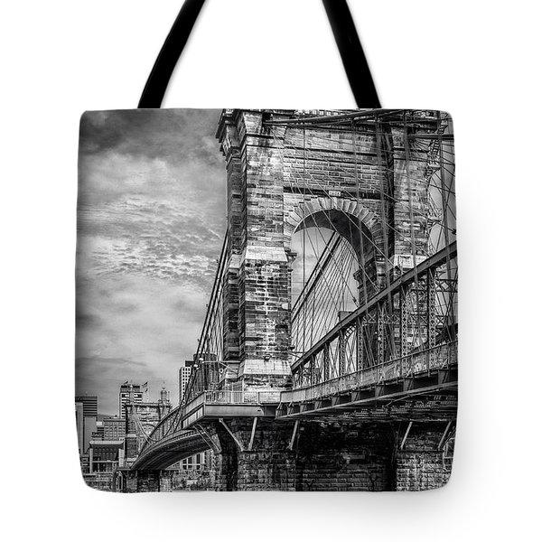Historic Roebling Bridge Tote Bag by Diana Boyd