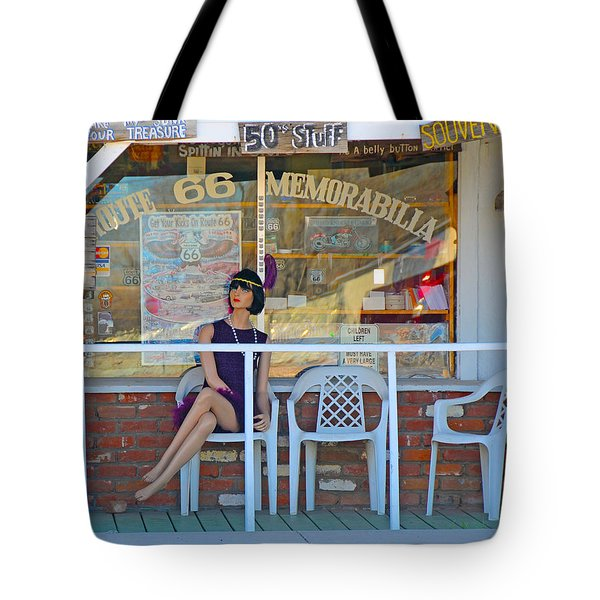 Historic Route 66 Memorabilia Tote Bag