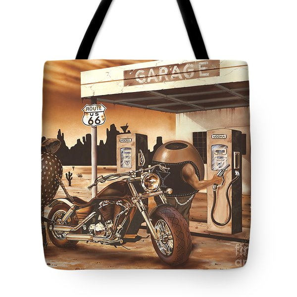 Historic Route 66 Tote Bag by Michael Godard