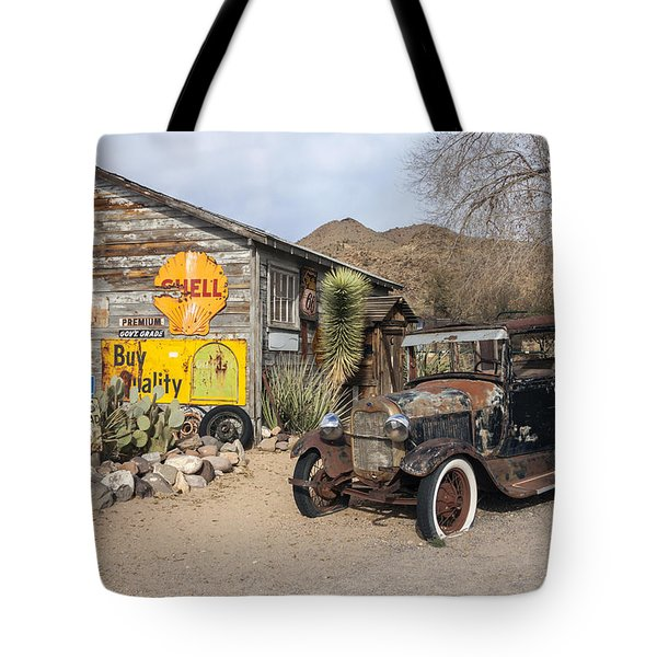 Historic Route 66 - Old Car And Shed Tote Bag