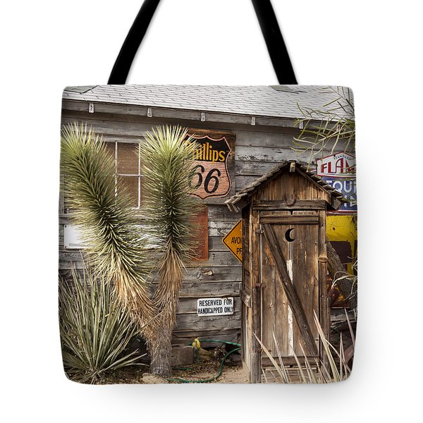 Historic Route 66 - Outhouse 1 Tote Bag