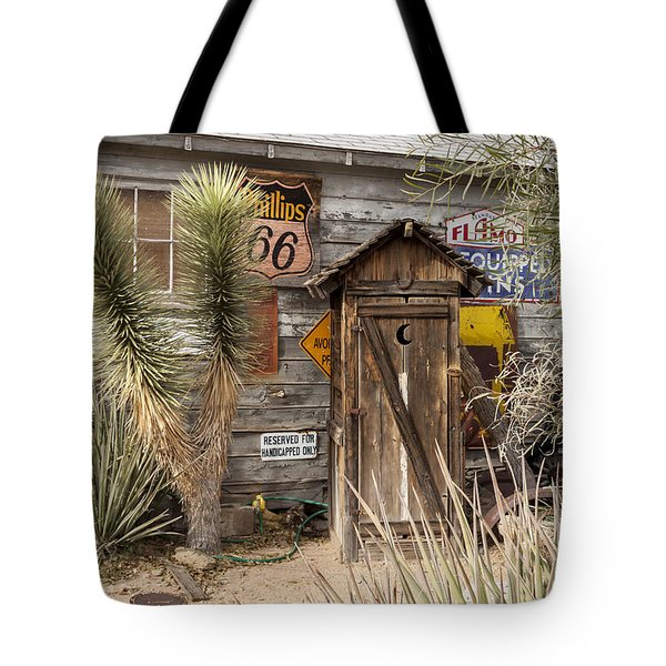 Historic Route 66 - Outhouse 2 Tote Bag