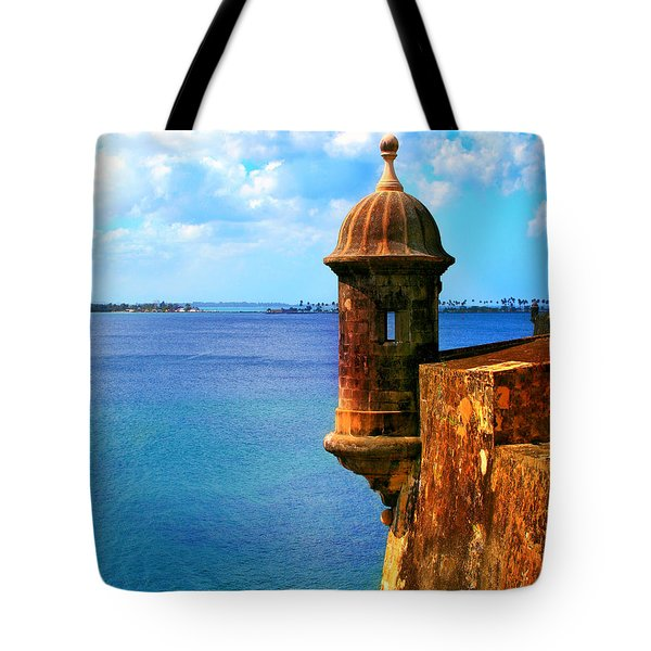 Historic San Juan Fort Tote Bag by Perry Webster