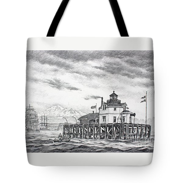 Historic Semiahmoo Lighthouse  Tote Bag by James Williamson