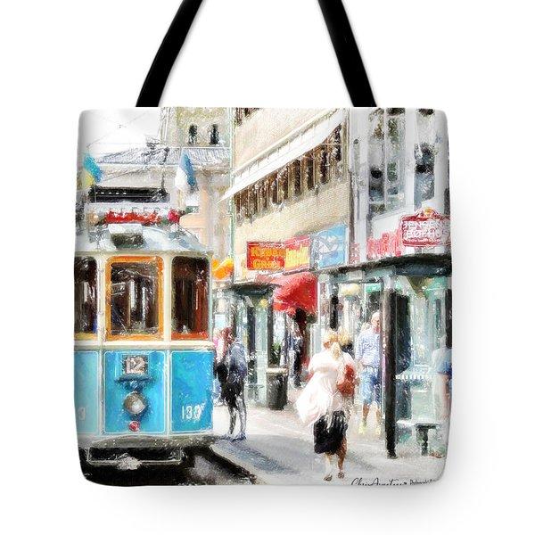 Historic Stockholm Tram Tote Bag