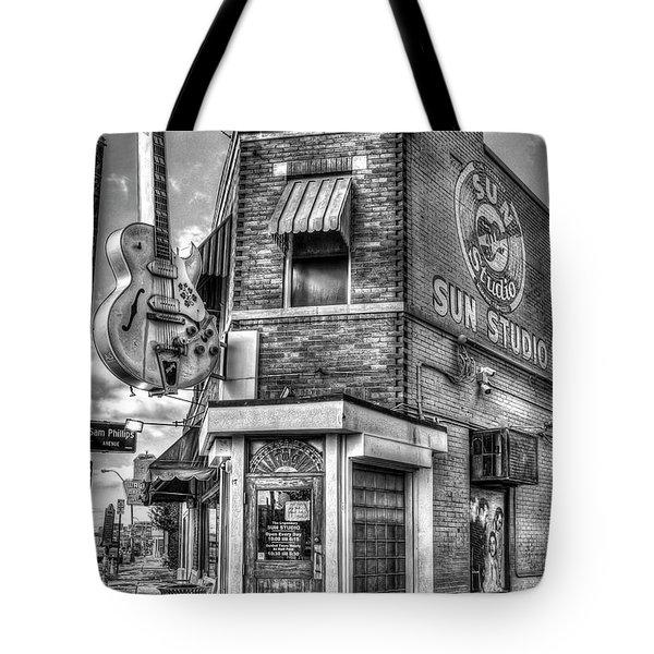 Historic Sun Studio B W Memphis Tennessee Art Tote Bag