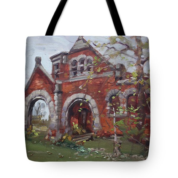 Historic Union Street Train Station In Lockport Tote Bag