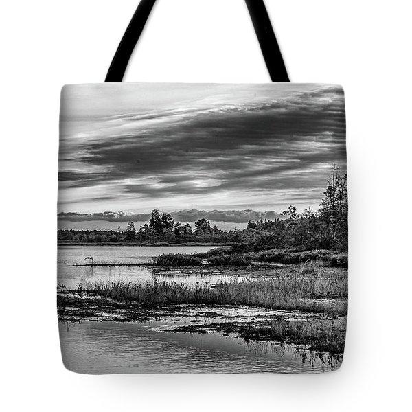 Historic Whitebog Landscape Black - White Tote Bag