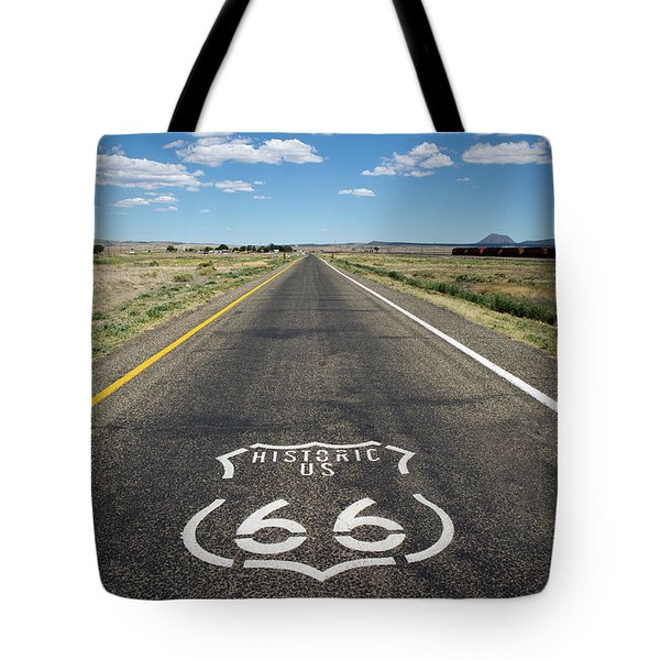 Historica Us Route 66 Arizona Tote Bag