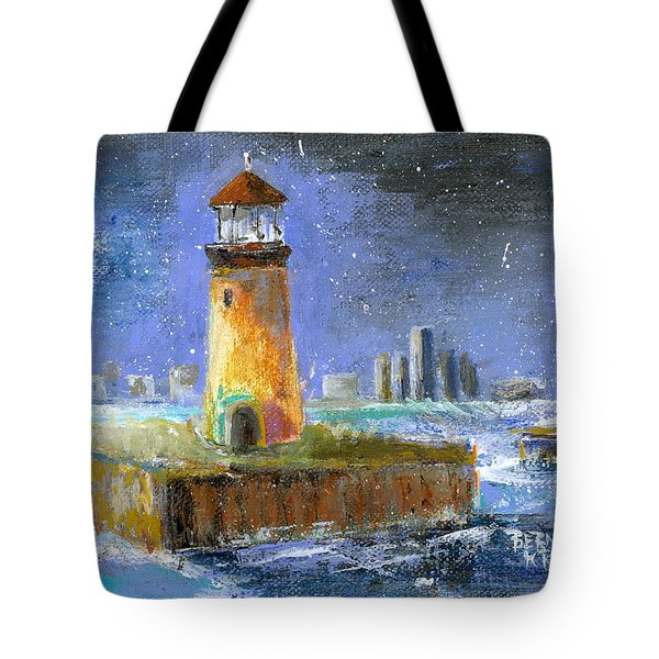 Historical 1859 South Channel Lights Full Moon Tote Bag