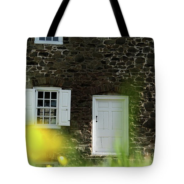 Tote Bag featuring the photograph Historical House In Washington Crossing State Park by Emanuel Tanjala