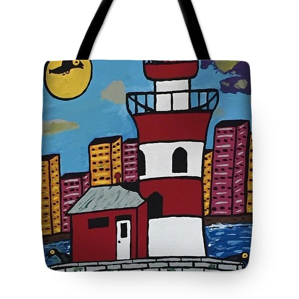 Historical Michigan Lighthouse Tote Bag