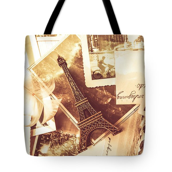 History And Sentiment Of Vintage Paris Tote Bag