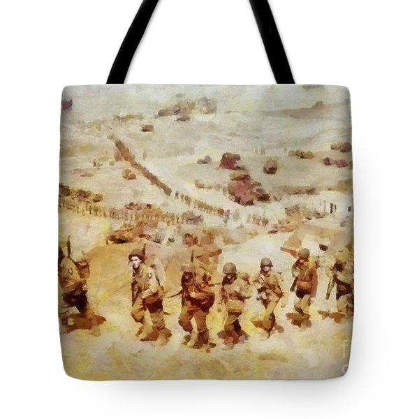 History In Color. D Day, Omaha Beach, Wwii Tote Bag