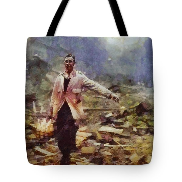 History In Color. Spirit Of The Blitz, Wwii Tote Bag