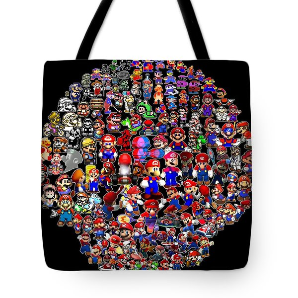 History Of Mario Mosaic Tote Bag by Paul Van Scott