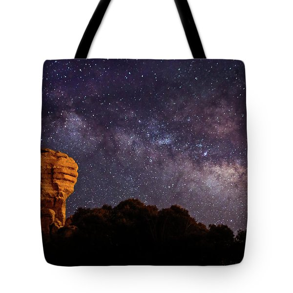 Hitchcock Pinnacle Nightscape -- Milky Way Tote Bag