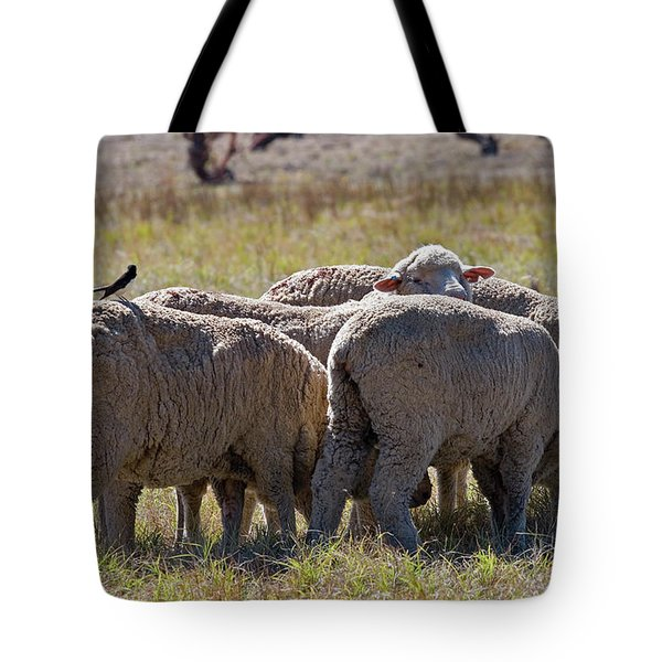 Hitching A Ride Tote Bag by Mike  Dawson