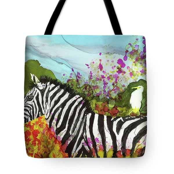Hitching A Ride Tote Bag by Suzanne Canner