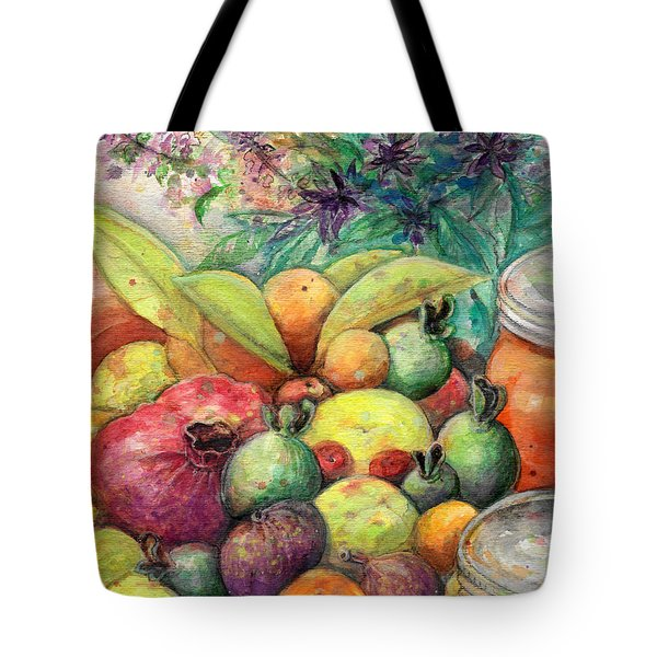 Tote Bag featuring the painting Hitching Post Harvest by Ashley Kujan