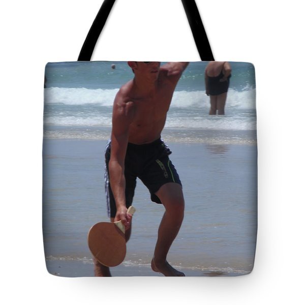 Tote Bag featuring the photograph Hitting It by Esther Newman-Cohen
